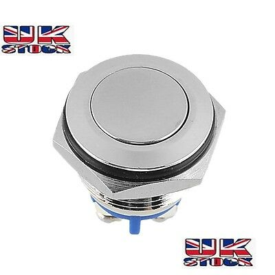 FLUSH Fit 12v  Stainless Push Button Switch Horn Starter 16mm UK Based seller