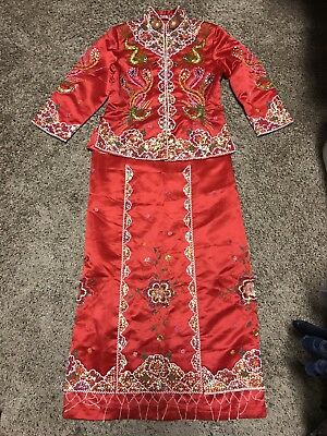 New!!! Traditional Chinese Wedding Dress (Kua)  Chinese size L