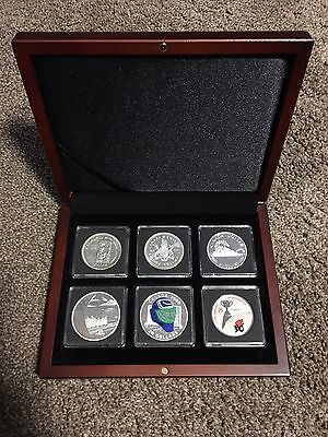 *SALE*1958 /1971 /1986 /2008 /2009 /2012 British Columbia 6 Coin Set w/ Wood Box
