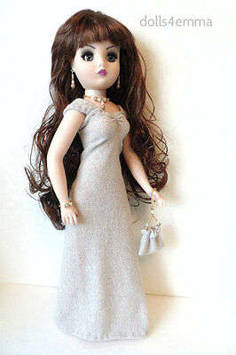 CISSY DOLL CLOTHES shimmer Gown + Purse + Jewelry handmade Fashion NO DOLL d4e