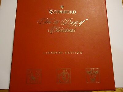 NEW Waterford The 12 Days of Christmas Lismore Edition Two Turtle Doves Ornament