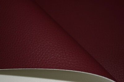 Burgundy Grain Premium Duty Faux Leather Upholstery Material Leatherette Fabric