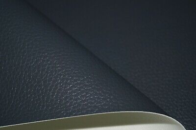 Charcoal Grain Premium Duty Faux Leather Upholstery Material Leatherette Fabric