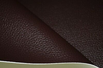 Brown Grained Premium Duty Faux Leather Upholstery Material Leatherette Fabric