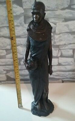 African Masai Statue Figurine  THE LEONARDO COLLECTION 42cm TALL