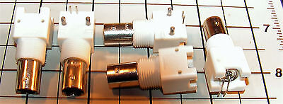 x5 TYCO BNC Connector Jack, Female Socket 75 Ohm Panel Mount, Right Angle Solder