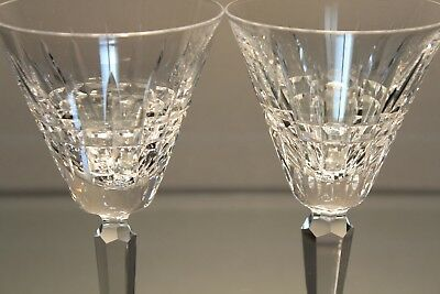 "Two (2) Waterford Glenmore 6 1/4"" inch White Wine Glass Stem Stemware Goblets"