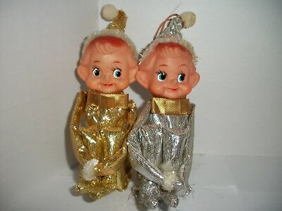 Vintage Pair Pixie Elf Knee Huggers-rare gold & silver lame~Made in Japan