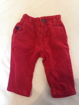 Next red cord trousers 3-6 months
