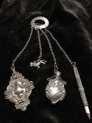 Victorian Chatelaine English With Lion And Knight
