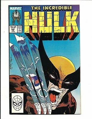INCREDIBLE HULK # 340 (McFARLANE, Hulk Battles Wolverine, FEB 1988), VF