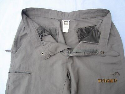 The North Face grey nylon walking trousers  W 32 L 30 short