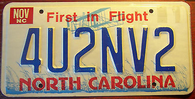 2000 North Carolina Vanity Personalized License Plate For You To Envy Too 4U2Nv2