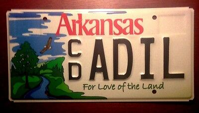 2000 Arkansas Wildlife Love The Land Forest Trees Mountains River License Plate