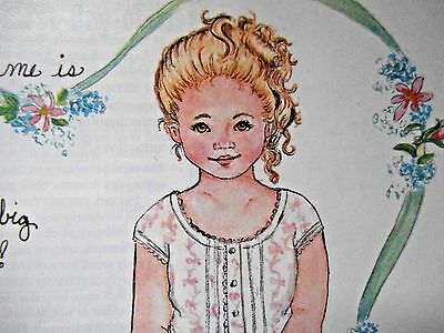 Vintage Breanne Paper Doll & Flower Girl Clothes By Maryanne Aldenburg - Uncut