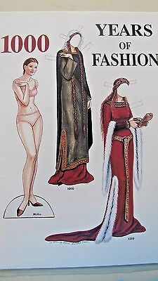 "Vintage Millie ""1000 Yrs Of Fashion"" Paper Doll & Costumes - Uncut Cards -2000"
