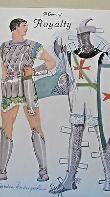 Vintage Game Of Royalty King & Queen Paper Dolls & Costumes - Uncut Cards-1998