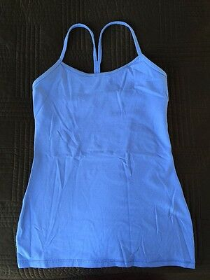 LULULEMON Power Y Tank Lavender Purple Lavender Yoga Top Size 6 SOLD OUT *RARE*