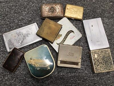 VINTAGE JOB CIGARETTE ROLLER and SOME CIGARETTE CASES GOOD LOT
