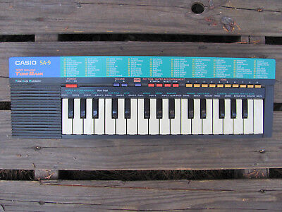 Vintage Casio SA-9 Electronic Mini Keyboard Black Excellent Working Condition