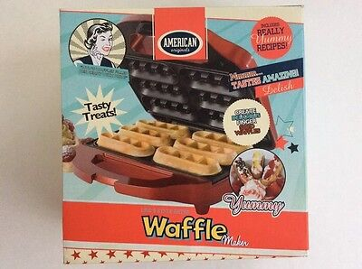 American Originals Waffle Maker Finger Snack Food Kids Party Like New