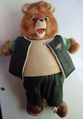 VINTAGE Original TEDDY RUXPIN with 4 Boxed OUTFITS!!!