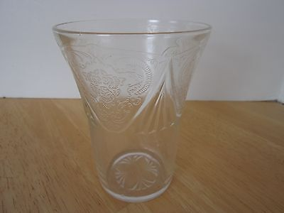 Royal Lace Depression Glass Crystal 9 oz Fluted Tumbler