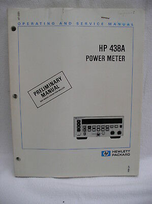 Original HP Hewlett Packard 438A Power Meter OPERATING AND SERVICE MANUAL