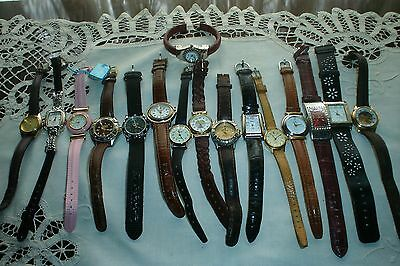 Lot of 16 Womens Misc. Wrist Watches Some Vintage Some Very Nice Need Batteries