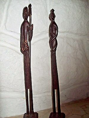 "African Statues 17"" Tall And Heavy  (Awesome)"