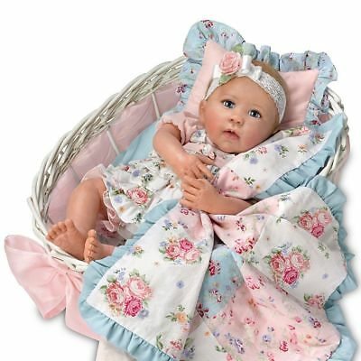 "Ashton Drake - ""Gabby Rose"" Lifelike Baby Doll and Accessories by Linda Murray"
