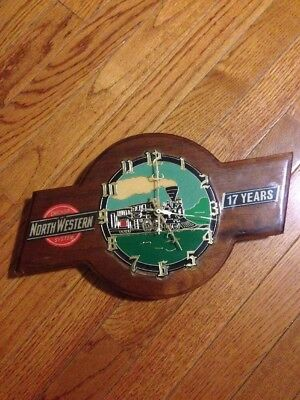 Collectible Wood Railroad Wall Clock ~ Chicago & North Western System