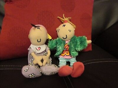 2 Soft Plush Bang On The Door Dolls Daddy's Girl & Funky Baby