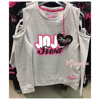 Jojo Siwa Nickelodeon Cold Shoulder Top Jumper Girl's Ages 7-14