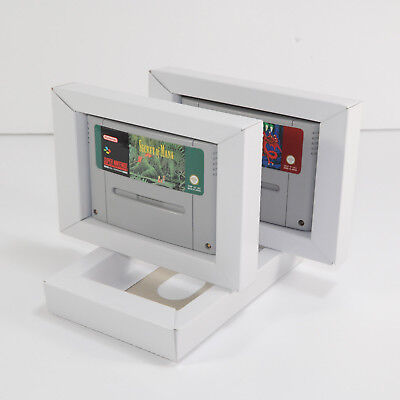 50 SNES Replacement Cardboard Inner Tray Quality Super Nintendo PAL NTSC Insert