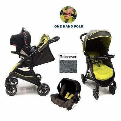 Graco Fast Action Fold Travel System With Accessories - Sport Lime