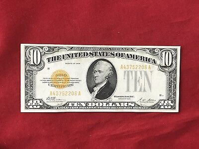 FR-2400  1928 Series $10 Ten Dollar Gold Certificate *Crisp Uncirculated*