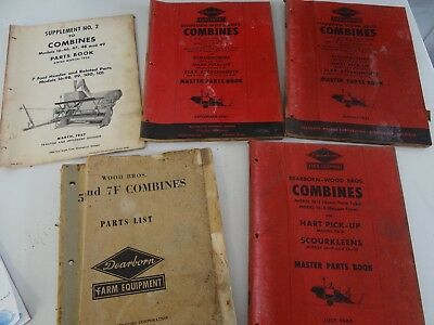 5 Ford Dearborn Combine Parts Manuals