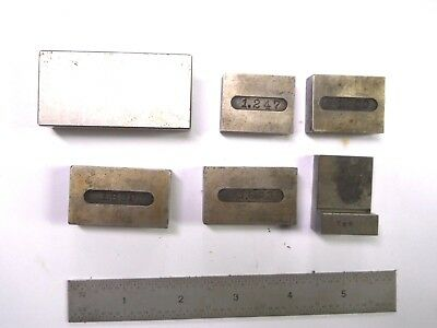 6 - Machinist Gage Blocks & Angle Block