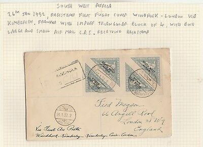 South West Africa 1932 First Flight Cover Windhoek - London Via South Africa