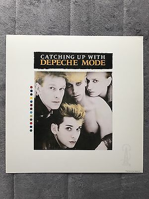 Depeche Mode Catching Up With Depeche Mode RARE promo 12 x 12 poster flat '85