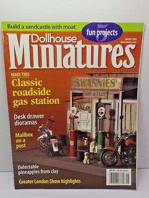 Dollhouse Miniatures Collector Magazines Classic Gas Station