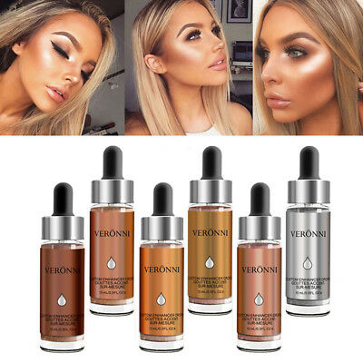 Fluid Highlighter Make Up Shimmer Cream Face Highlight Illuminator Glow Bronzer
