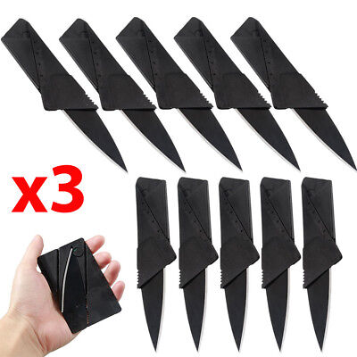 x3 Lot Credit Card Thin Knives Cardsharp Wallet Folding Pocket Micro Knife