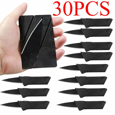 x30 Lot Credit Card Thin Knives Cardsharp Wallet Folding Pocket Micro Knife