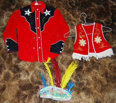 VINTAGE Ranch Lot 2 ,COWBOY,Indians  costumes Feather Head Dress