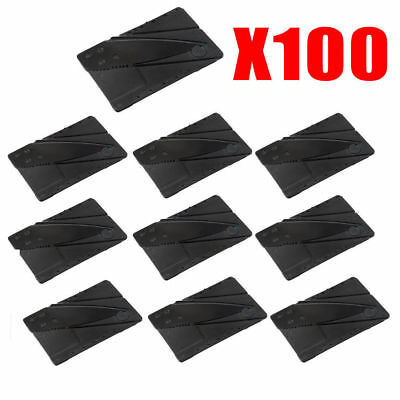 x100 Lot Credit Card Thin Knives Cardsharp Wallet Folding Pocket Micro Knife