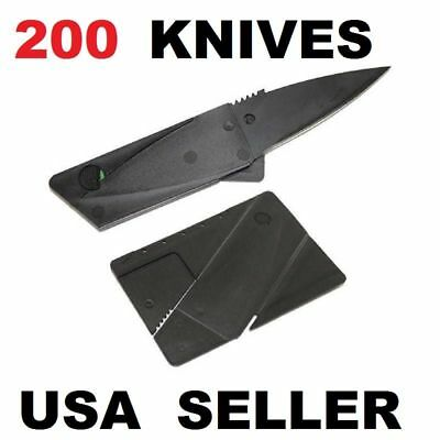 x200 Lot Credit Card Thin Knives Cardsharp Wallet Folding Pocket Micro Knife