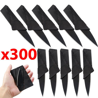 x300 Lot Credit Card Thin Knives Cardsharp Wallet Folding Pocket Micro Knife