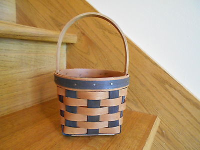 Longaberger Resolution Basket rare mint condition 1988 Navy blue *free shipping*